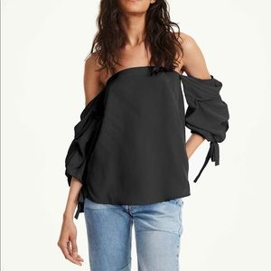 Club Monaco 100% Liki Off the Shoulder Top